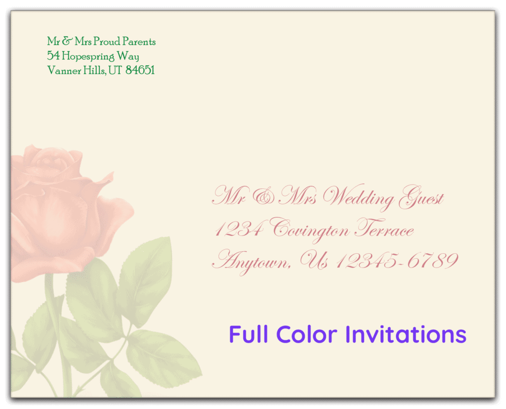 application finder invitation envelope full color full bleed rena by quadient